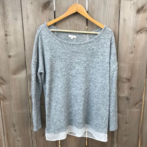 UO Silence & Noise Grey Boyfriend Fit Sweater